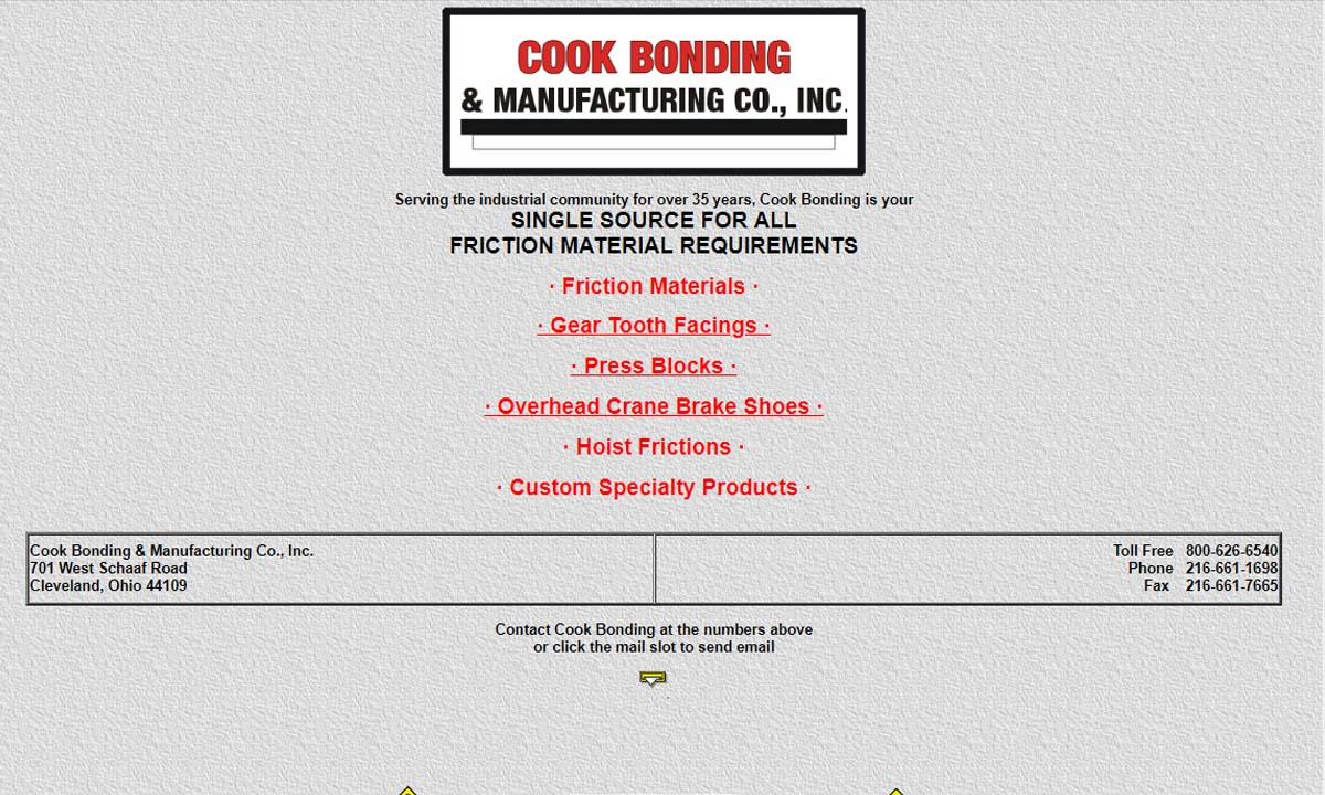 Cook Bonding & Manufacturing Co., Inc.
